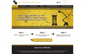 Certify Me Online Website