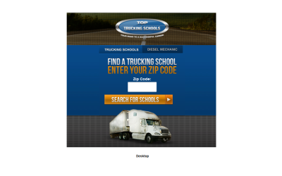 Mobile Website: Top Trucking Schools.com